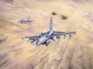 猛スピードで地上へ奇襲する戦闘機