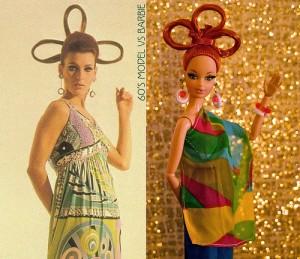 バービー人形と実写モデル