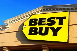 best buyと書かれた黄色い看板