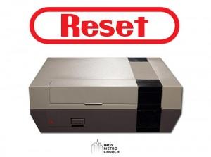 『リセット』と書かれた機械