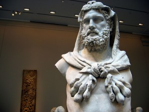 ゼウスの石像
