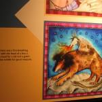ライオンの体に蛇の尻尾と山羊を背中に背負ったキメラ風の絵
