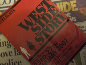 west side storyのパンフレット