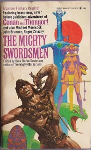 男女の剣闘士が描かれたポスター