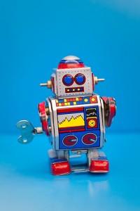 オモチャのロボット