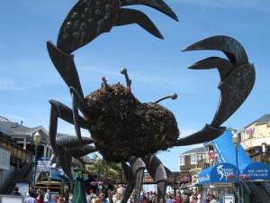 大きな蟹の模型