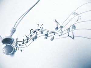 音符が踊っているかのように波うっている