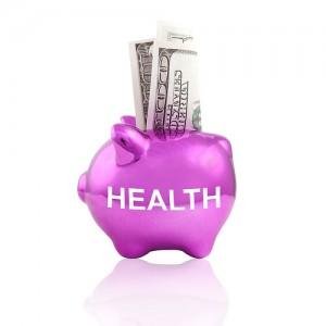 ブタの貯金箱に『healthy』にお札が入っている