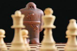チェスと並ぶゴーレム風の駒