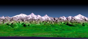 山の3d映像
